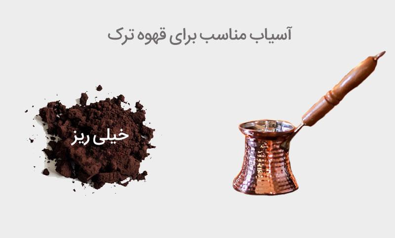 آسیاب مناسب قهوه ترک