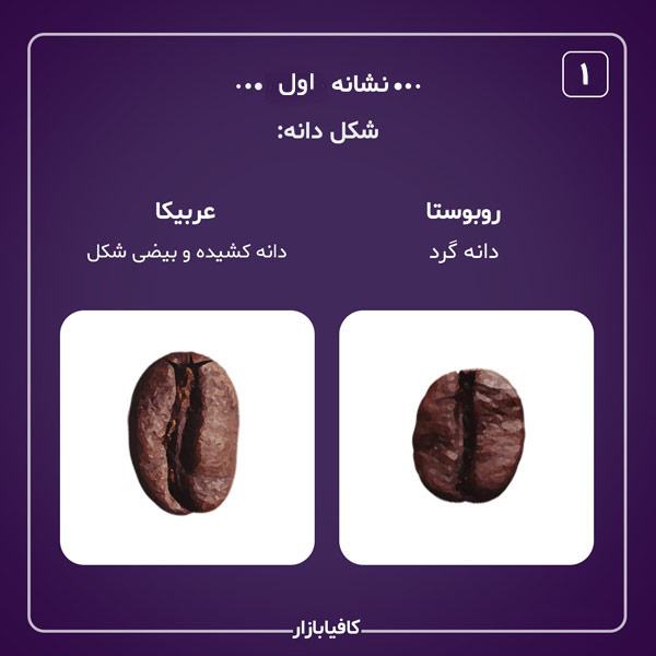 تفاوت عربیکا و روبوستا نشانه اول
